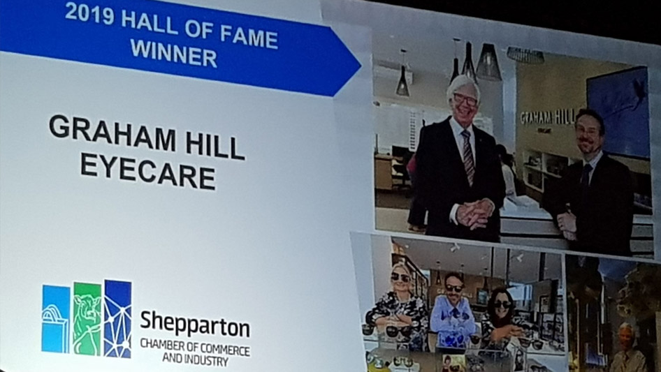 Graham Hill Eyecare is the 2019 Hall of Fame Winner