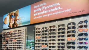 Our new sunglasses wall